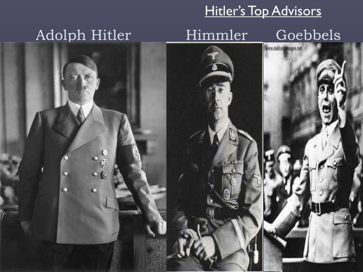 Hitler's Top Advisors