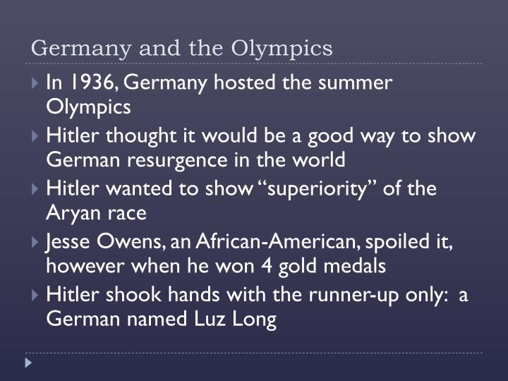 Germany and the Olympics