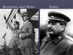 mussolini and hitler stalin