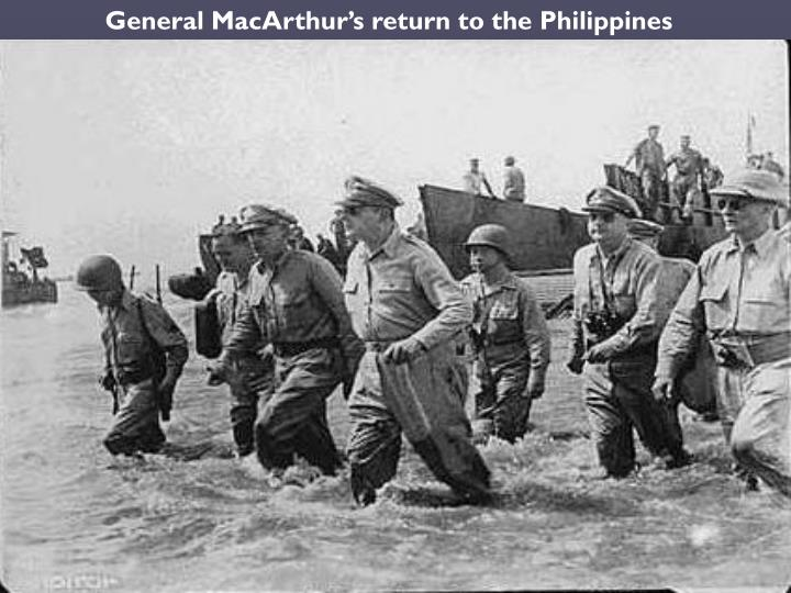 General MacArthur's return to the Philippines