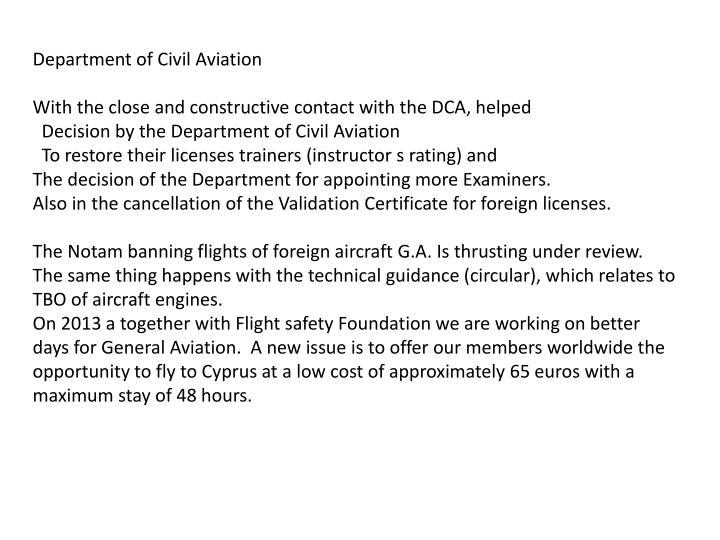Department of Civil Aviation