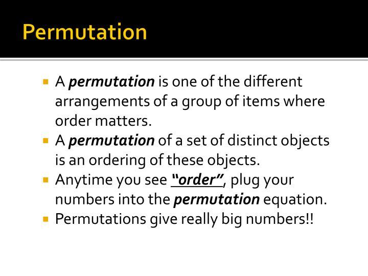 Permutation