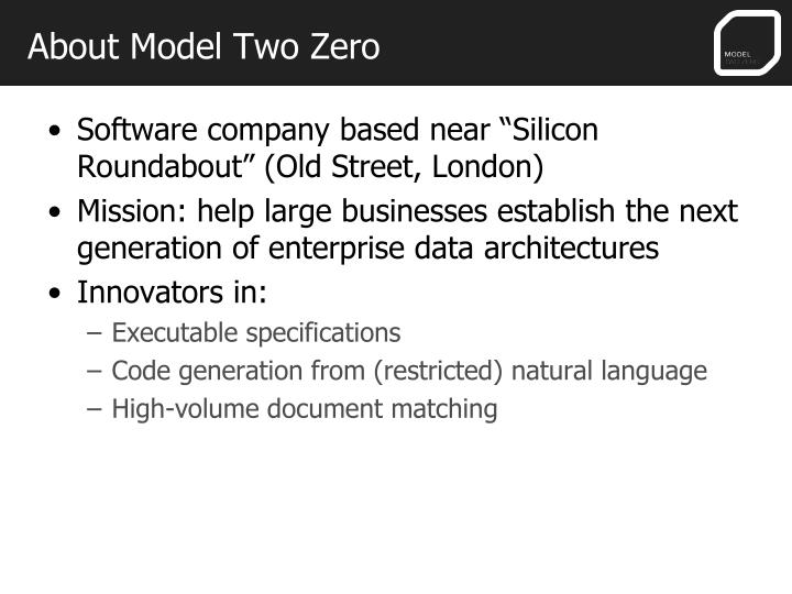 About Model Two Zero