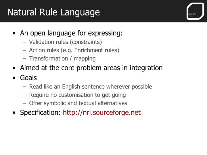 Natural Rule Language