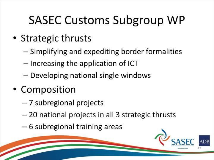 SASEC Customs Subgroup WP