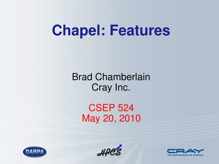 Chapel features