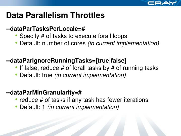 Data Parallelism Throttles