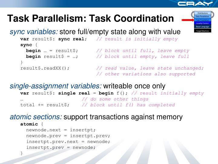 Task Parallelism: Task Coordination