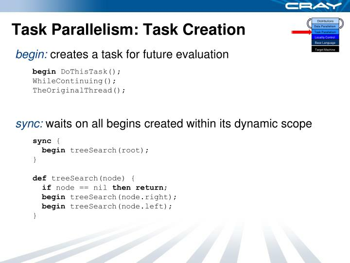Task Parallelism: Task Creation