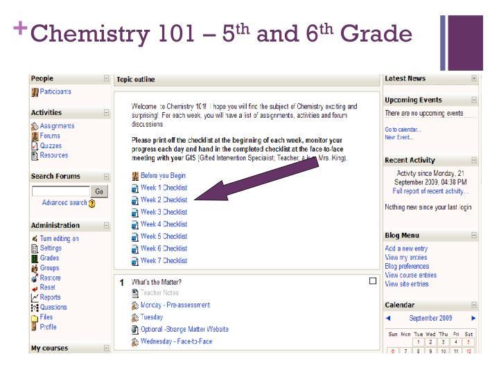 Chemistry 101 – 5