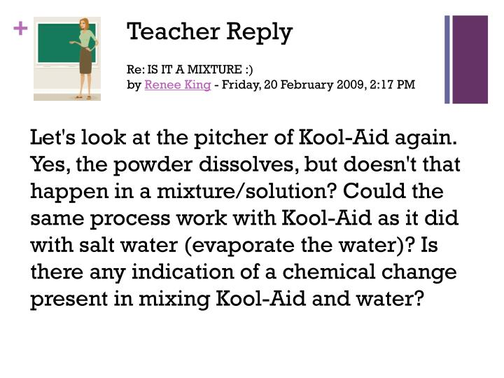 Teacher Reply