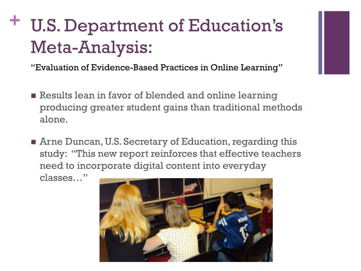 U.S. Department of Education's Meta-Analysis: