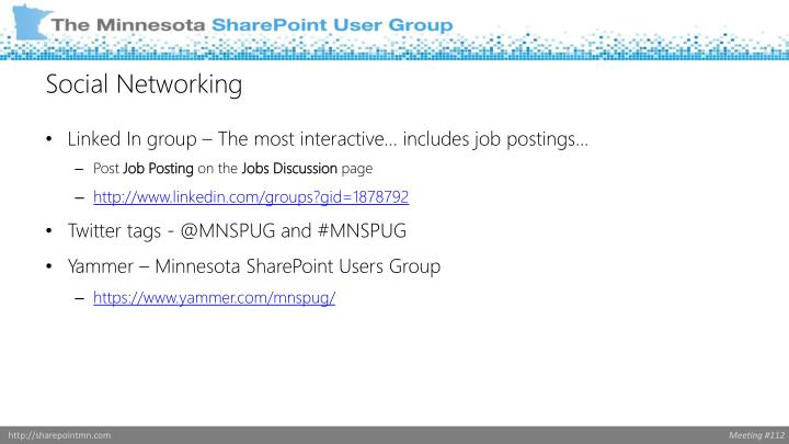 Linked In group – The most interactive… includes job postings…