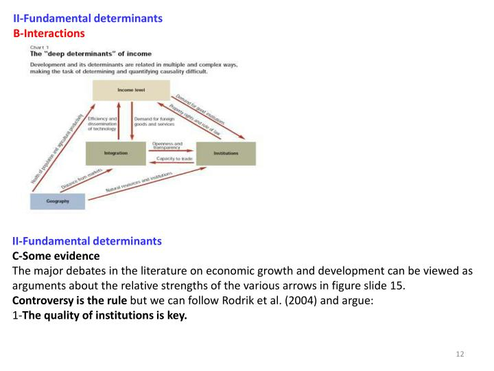 II‐Fundamental determinants