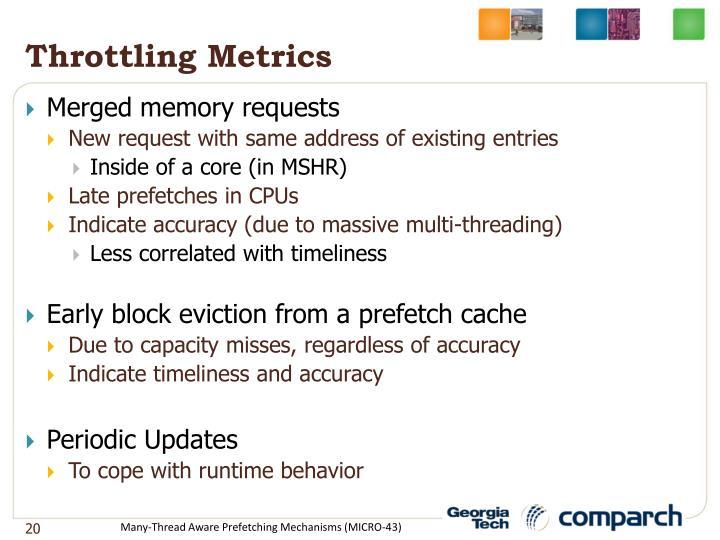 Throttling Metrics