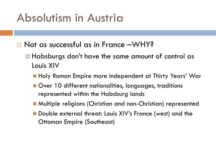 Absolutism in Austria