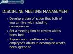 discipline meeting management1