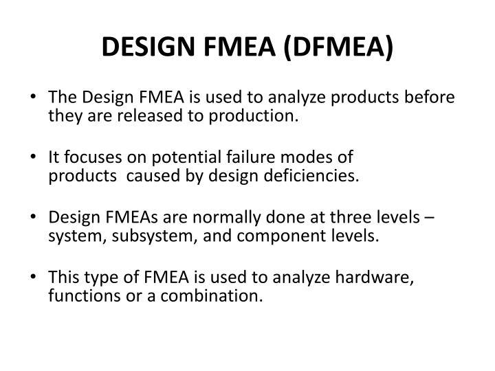 DESIGN FMEA (DFMEA)
