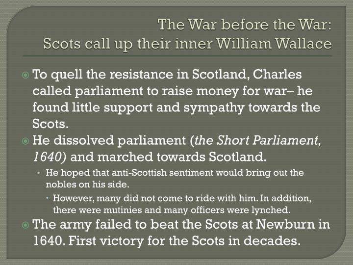 The War before the War: