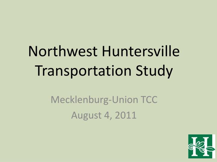 Northwest huntersville transportation study