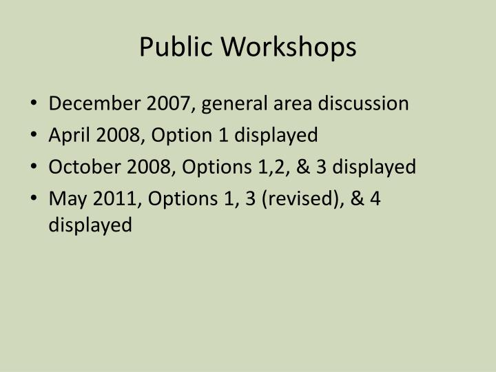 Public Workshops