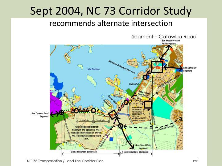 Sept 2004, NC 73 Corridor Study