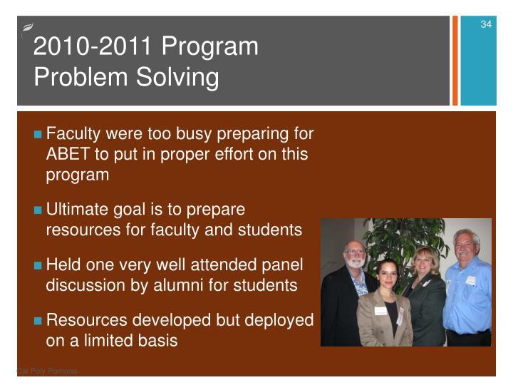 2010-2011 Program