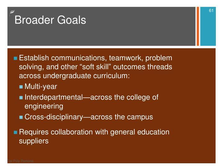 Broader Goals
