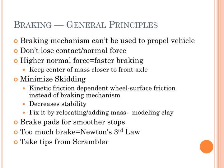 Braking — General Principles