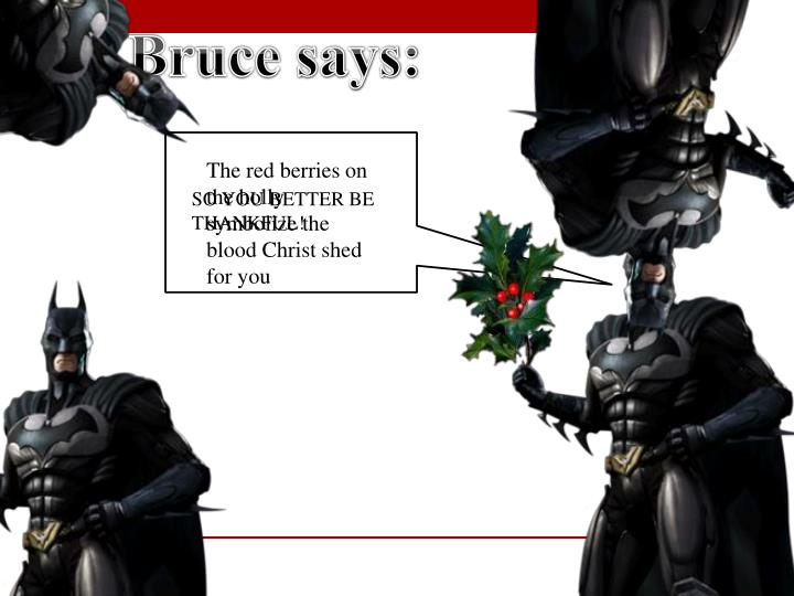 Bruce says: