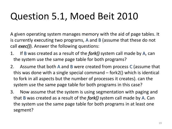 Question 5.1,