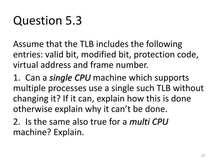 Question 5.3