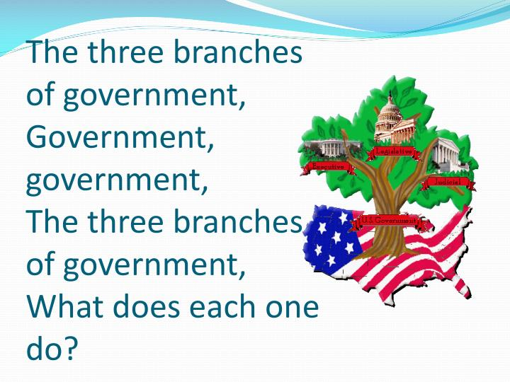 The three branches of government,