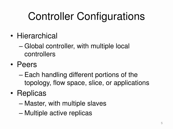 Controller Configurations