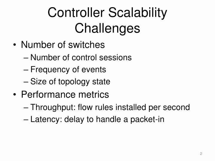 Controller scalability challenges