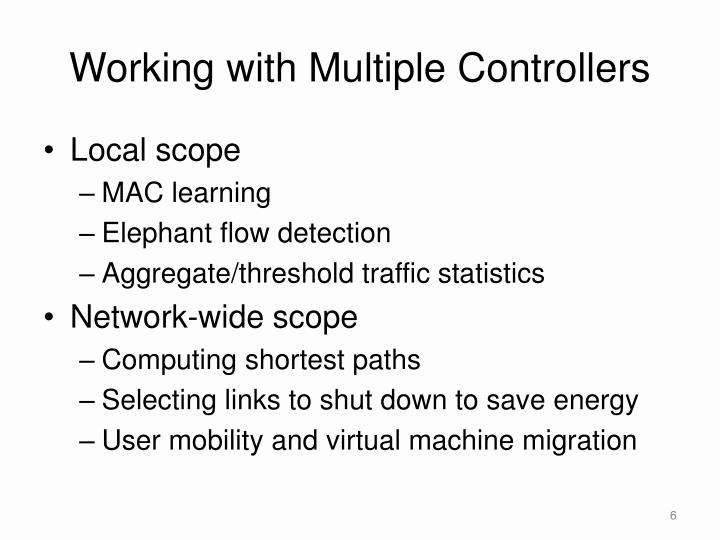 Working with Multiple Controllers
