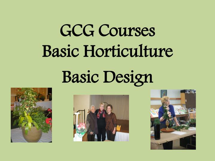 GCG Courses
