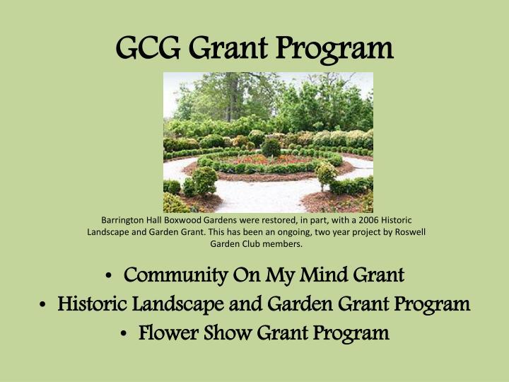 GCG Grant Program