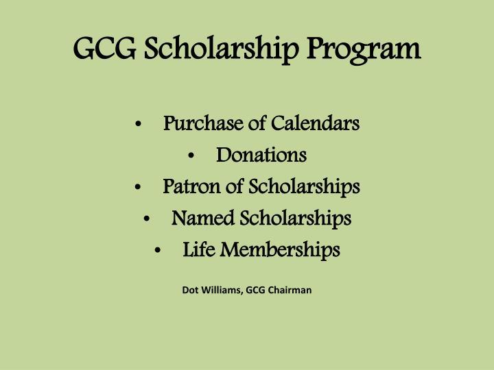 GCG Scholarship Program