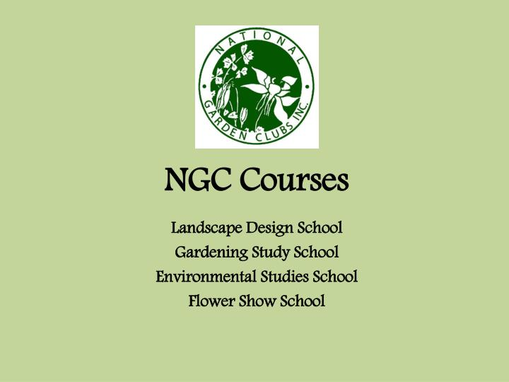 NGC Courses
