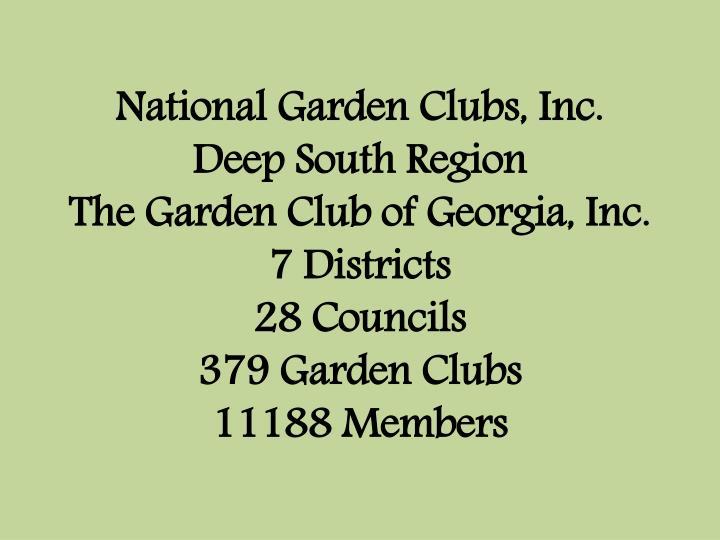 National Garden Clubs, Inc.