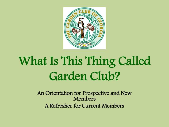 What is this thing called garden club
