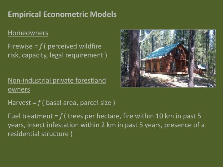Empirical Econometric Models
