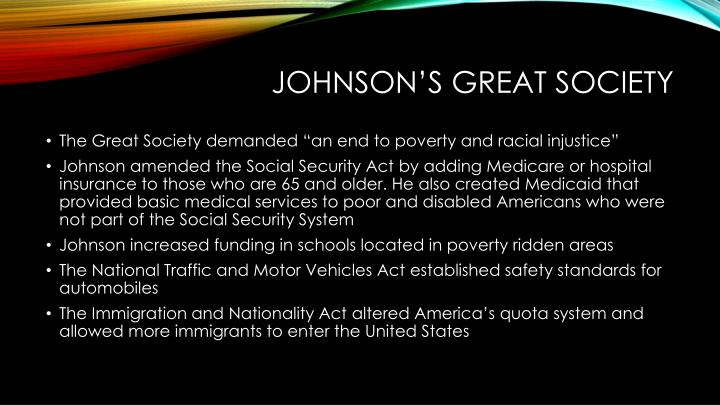 Johnson's great society