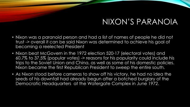 Nixon's Paranoia