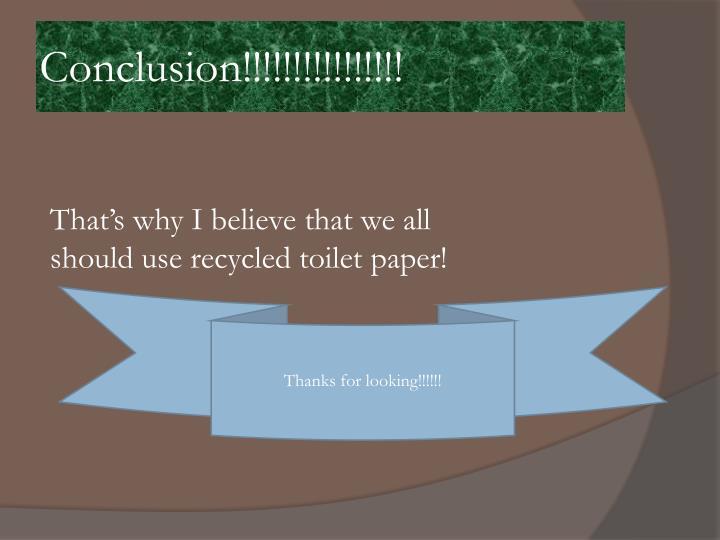 Conclusion!!!!!!!!!!!!!!!!