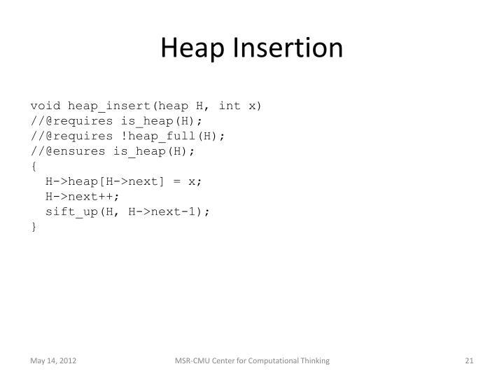 Heap Insertion