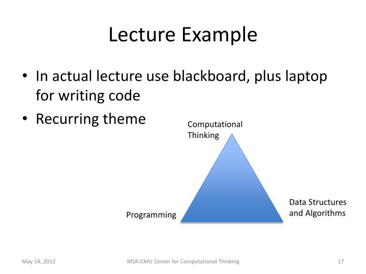 Lecture Example