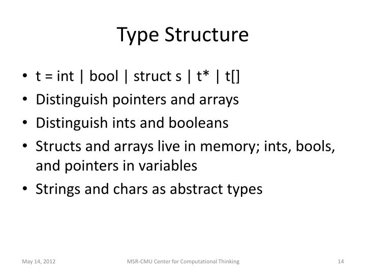 Type Structure