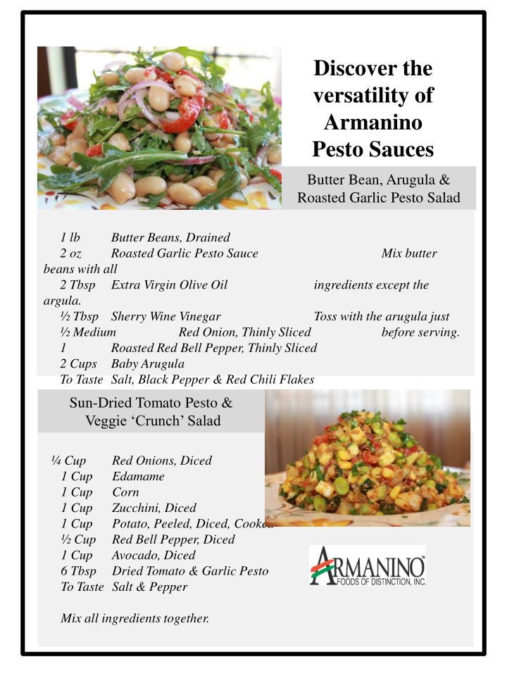 Discover the versatility of Armanino Pesto Sauces